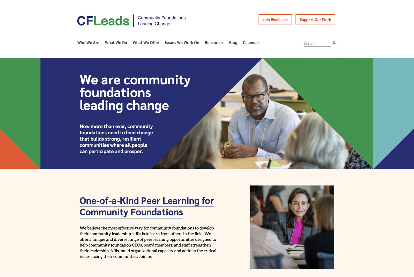 We are community foundations leading change Now more than ever, community foundations need to lead change that builds strong, resilient communities where all people can participate and prosper.