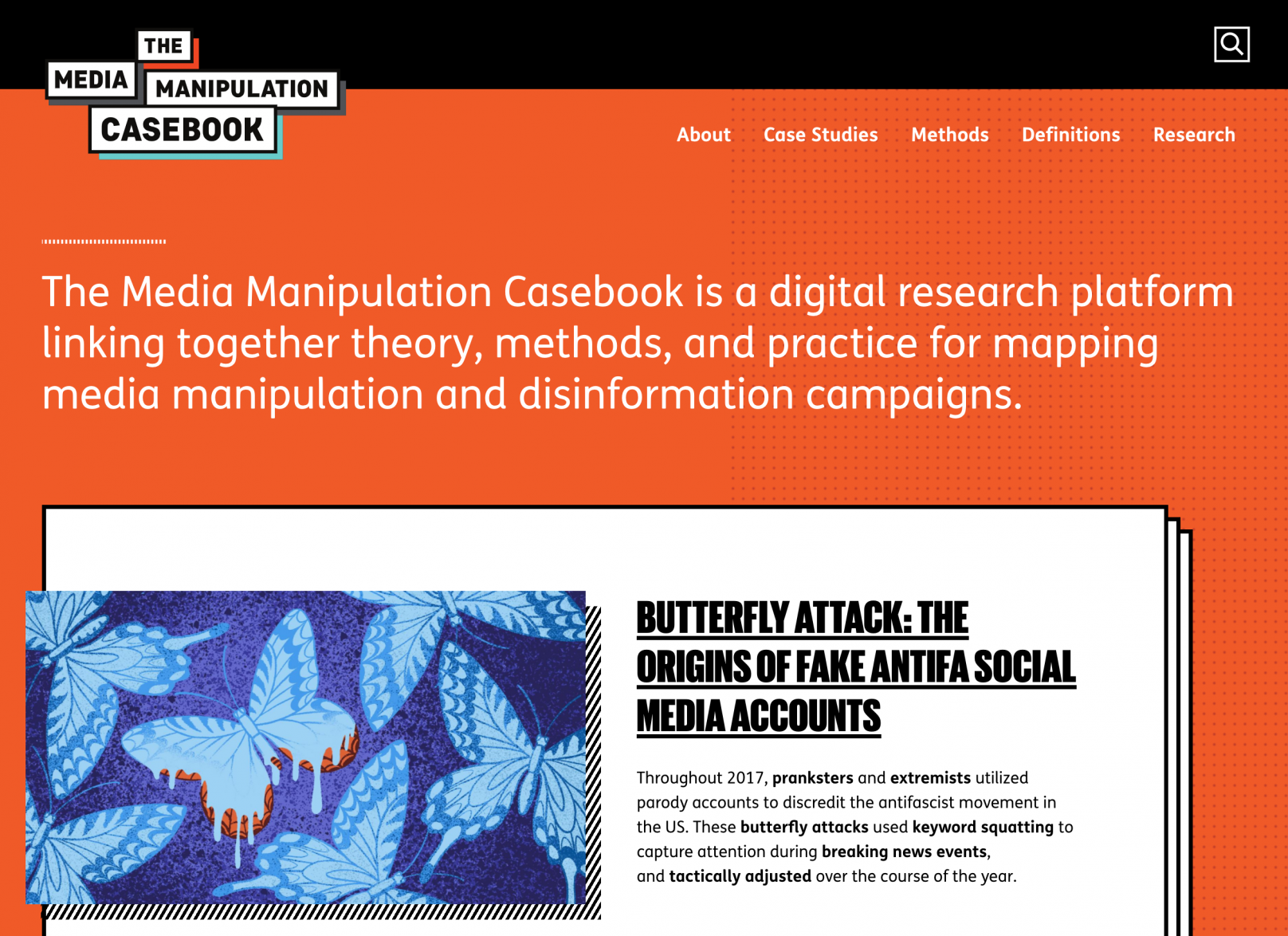 """The Media Manipulation Casebook is a digital research platform linking together theory, methods, and practice for mapping media manipulation and disinformation campaigns"""